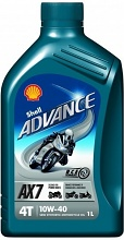 Shell Helix Advance AX7 4T 10W-40 1l